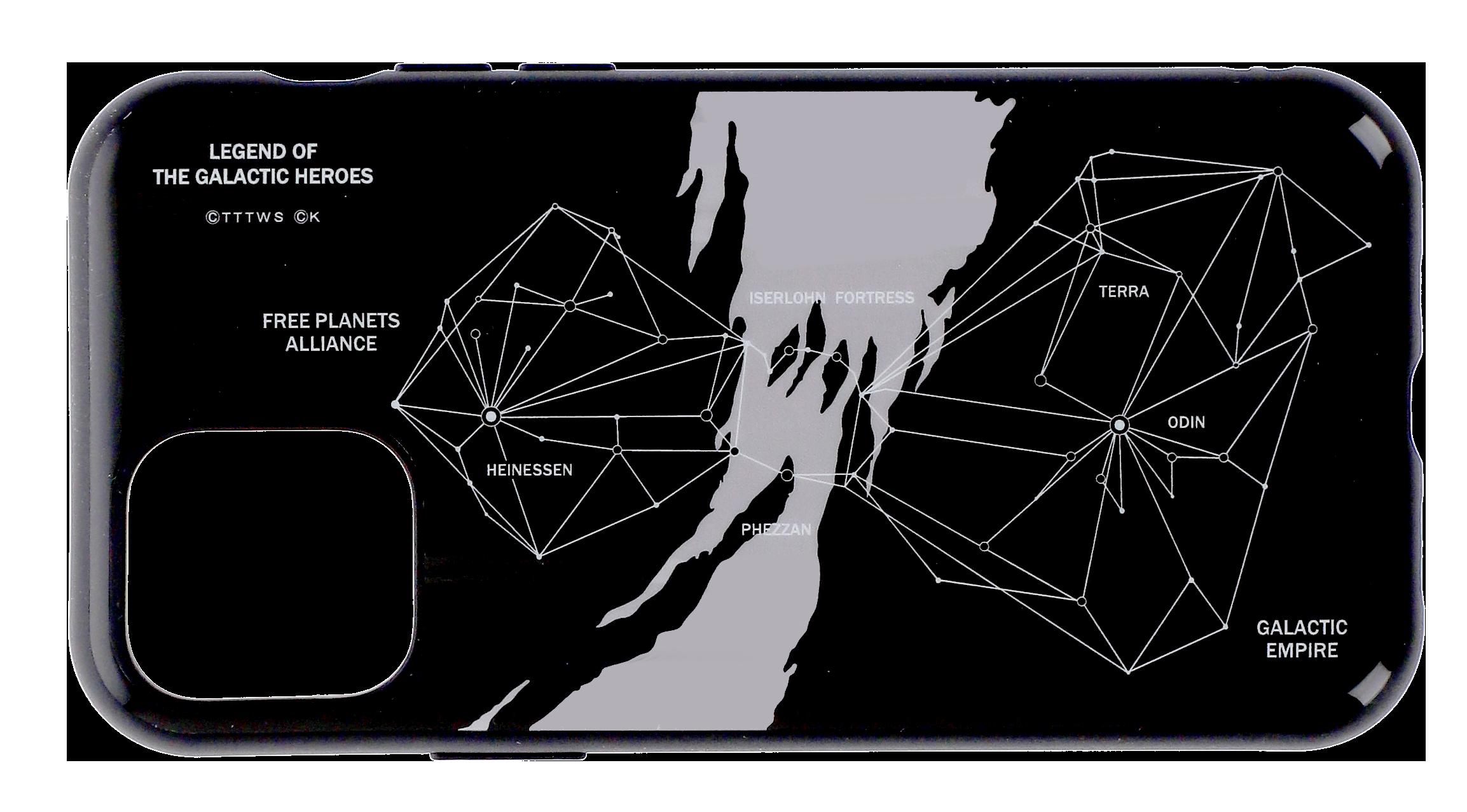 イゼルローンフォートレスオリジナルIIIIfit 航路図【iPhone12/12 Pro対応】